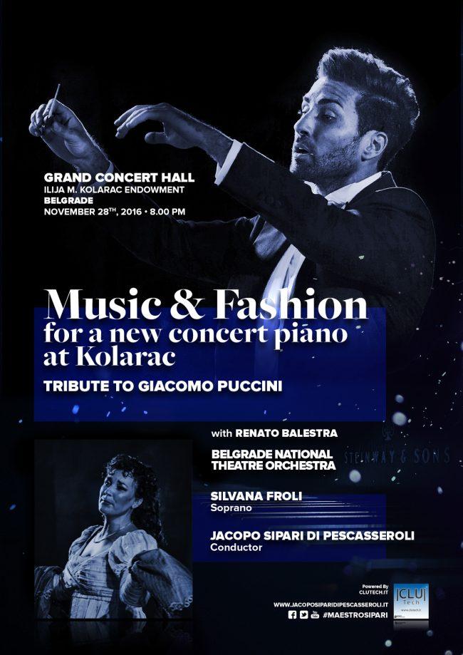 Music and fashion for a new concert piano at Kolarac
