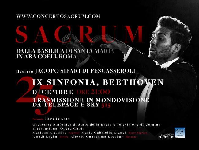 Mondovisione Concerto Sacrum su Telepace la sera di Natale - IX Sinfonia di Beethoven