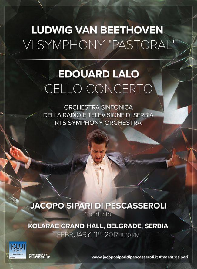 Il Maestro Sipari a Belgrado per dirigere Beethoven e Lalo